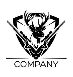 deer hunting logo vector image