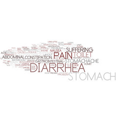 diarrhea word cloud concept vector image