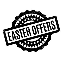 Easter offers rubber stamp vector