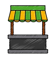Empty stand stall template store and marketing vector