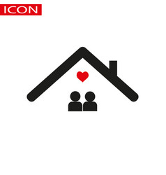 family at house icon isolated vector image