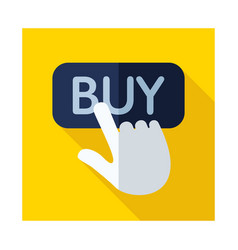 Finger pointing to buy sign icon vector