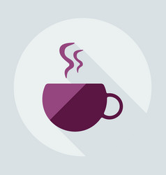 Flat modern design with shadow icons coffee vector