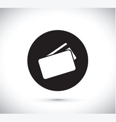 floating credit card icon vector image