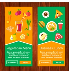 Food Banners vector image