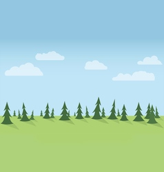 Forest Seamless Horizontal vector image