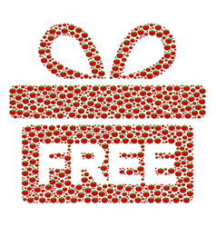 Free gift collage of tomato vector