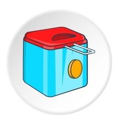 Fryer icon cartoon style vector