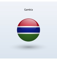 Gambia round flag vector