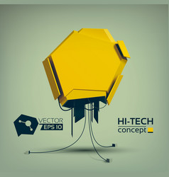 Geometric abstract hi-tech concept vector
