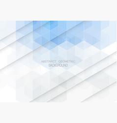 geometric shaped design blue hexagons brochure vector image