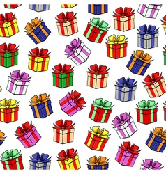 gift color patterns vector image