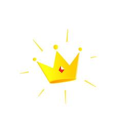 gold crown icon color premium vector image