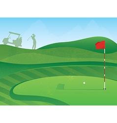 Golf course green vector
