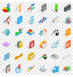 Graphic icons set isometric style vector