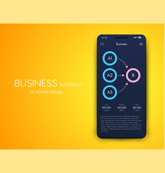 graphics mobile infographics with three vector image