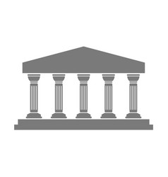 greek temple icon vector image