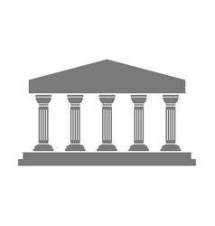 Greek temple icon vector