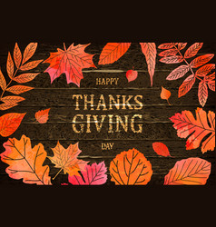 happy thanksgiving holiday banner vector image