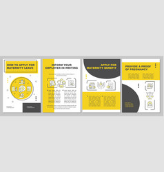 How to apply for maternity leave yellow brochure vector