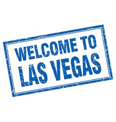 Las Vegas blue square grunge welcome isolated vector