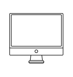line electronic computer screen technology icon vector image