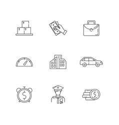 loan money linear icons set vector image