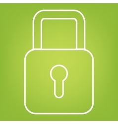 lock line icon vector image