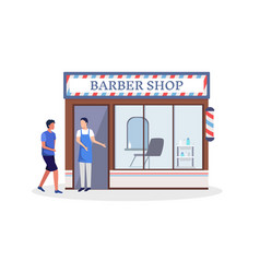 man with haircut business vector image