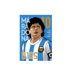 Maradona d10s vector