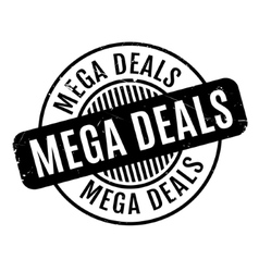 Mega Deals rubber stamp vector