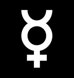 Mercury sign vector
