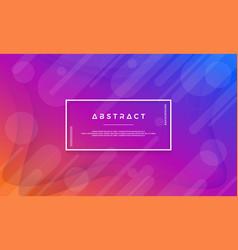 modern blue purple orange abstract background vector image