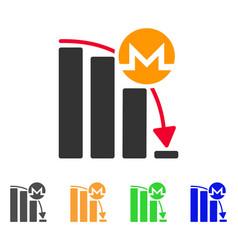 monero epic fail chart icon vector image