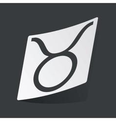 Monochrome Taurus sticker vector image