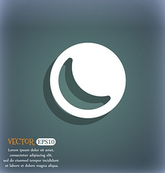moon icon symbol on the blue-green abstract vector image