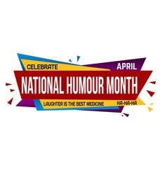 National humor month banner design vector