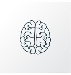 Neurobiology icon line symbol premium quality vector