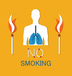 no smoking poster human damaged lung banner vector image