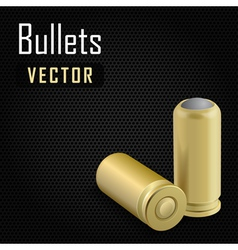 Pair bullets on black background vector
