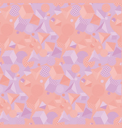 pale color geometry shapes seamless pattern vector image