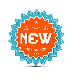 Paper Sticker - Label with New Title vector image