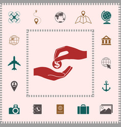 receiving money icon elements for your design vector image