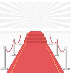 Red carpet of cinema award event carpet stage vector