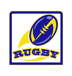 Rugby poster vector