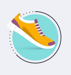 Running shoes iconShoes for training sneaker vector