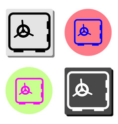 safe flat icon vector image