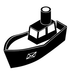 sea ship delivery icon simple style vector image