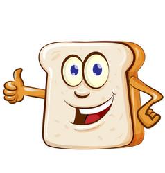 slice bread mascot cartoon vector image