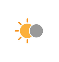 Solar eclipse simple icon on white background vector